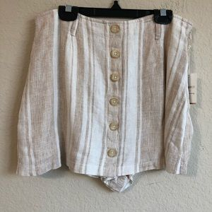 Forever 21 Linen Striped Shorts/Skirt NWT